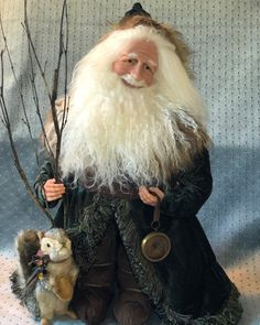 Stone Soup, Santa Doll, Polymer Clay Dolls, Xmas Decorations, Christmas Things, Christmas Ideas, Snowmen, Fall, Artist
