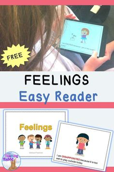 This FREE easy reader can help primary students recognize different emotions. It is printable but also good for viewing on a computer screen. Students can read it on the iPad using the iBooks program. Great for an independent reading center!