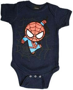 Spider-Man Curvy Webs Baby Onesie | Baby Geek For your little Peter Parker.