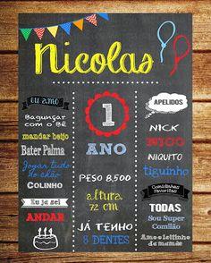 Chalkboard Aniversário / Quadro negro aniversário
