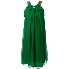 Lanvin draped flared dress ($1,495) ❤ liked on Polyvore featuring dresses, green, green dresses, robe, short dresses, mid length cocktail dresses, short green dress, green dress, flare dress and green mini dress
