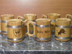 7 tazze di birra di legno personalizzate 05 l 17oz legno