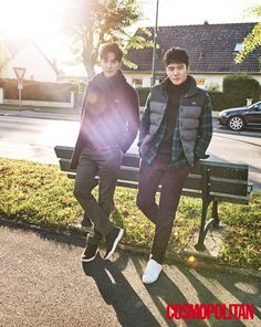 김지석-하석진 따사로운 햇살 아래 완벽한 브로 케미 #topstarnews
