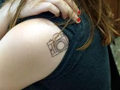 small camera tattoo.. this is exactly what I've been thinking of!