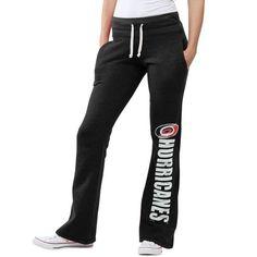 Carolina Hurricanes Original Retro Brand Women's Tri-Blend Pocketed Slim Fit Fleece Pants - Black - $44.99