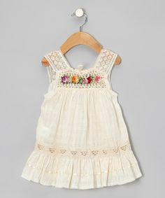 Take a look at this Little Cotton Dress Natural Nathaly Ibiza Dress - Infant, Toddler & Girls on zulily today!