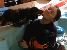 Day 2: Your pet giving you kisses! Scotia giving Nicole lots of love!  #keeppetshealthy #30dayphotochallenge