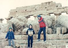 At the ancient city of Selinunte in winter