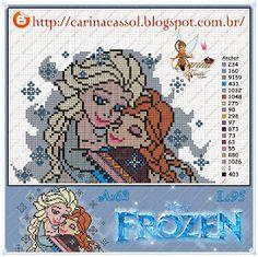 Pontinhos Mágicos: Novo gráfico Frozen!!!
