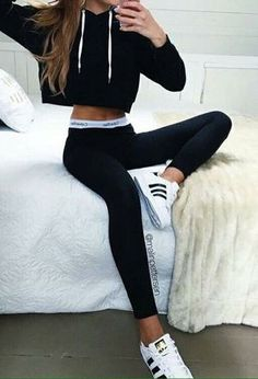 Calvin klein bralette outfit · look by with . Legging Outfits, Body Suit Outfits, Sporty Outfits, Trendy Outfits, Girl Outfits, Cute Outfits, Fashion Outfits, Sporty Fashion, Athleisure Fashion