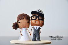 Custom Felt Wedding Cake Topper by MmeHibou