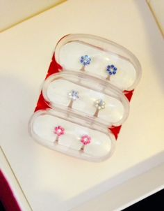 NEW! Holiday Daisy Gift Set!! The set contains one each of the Daisy Rainbow, Daisy Rose, and our Daisy Sapphire. Separately these would sell for $105, making the Gift Set a great value at just $80!   http://www.blomdahlusa.com/homepldagise.html #nickelfree #earrings #medicalplastic #blomdahlmedical #nickelfreeearrings #hypoallergenic