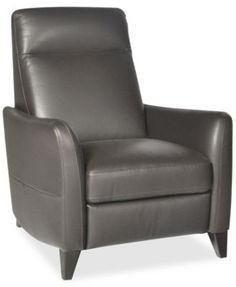abbyson living baron hand rubbed pushback leather recliner by abbyson