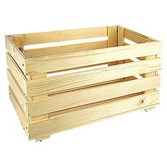 Regalux Regalsystem Heavy Vorratskiste mit Rollen (60 x 31,8 x 29,5 cm, Holz)