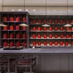 Wang De Chuan tea shop- one of the best tea shops in the world (No. Section Zhongshan N Rd, Zhongshan District, Taipei City, Taiwan Chinese Restaurant, Restaurant Design, Restaurant Interiors, Chinese Black Tea, Chinese Tea Room, Chinese Style, Tea Display, Chinese Interior, Japanese Interior