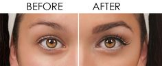 Before and After - silk brow enhancer