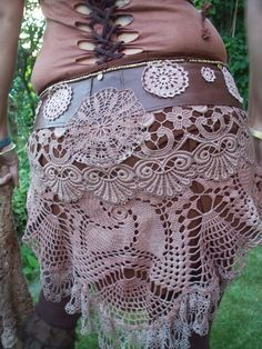 Your place to buy and sell all things handmade We Are Golden, Rock And Roll Bands, Hippie Boho, Lace Skirt, Trending Outfits, Brown, Crochet, Unique Jewelry, Clothing