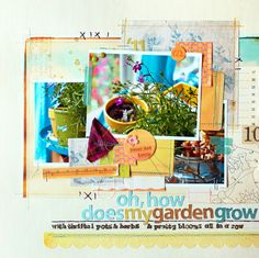 Scrapbooking collage.  I'm not sure if I have the confidence to attempt this.