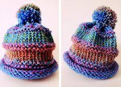 Baby Knitting Patterns Arm Easy peasy baby hat that takes just a couple hours to make with a knitting loom…. Round Loom Knitting, Loom Knitting Projects, Loom Knitting Patterns, Knitting For Kids, Knitting For Beginners, Knitting Stitches, Knitting Yarn, Free Knitting, Loom Hats