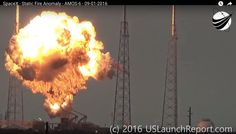 An unmanned SpaceX Falcon 9 rocket exploded on its launch pad in Cape Canaveral, Florida while refueling. The blast created a spectacular fireball and shook .