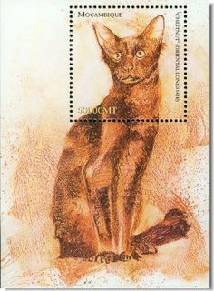 Cats on stamps on Pinterest