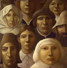 'The Audience' oils on canvas painted by George Underwood