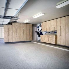 Top 70 Best Garage Cabinet Ideas - Organized Storage Designs Garage Storage Shelves, Built In Storage, Cabinet Storage, Bike Storage, Wood Storage, Storage Baskets, Garage Walls, Garage House, Garage Room