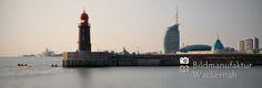 cool Fotografie »Geestemole mit Skyline«,  #Stadtansichten