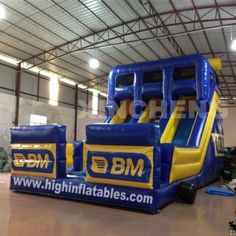 customized Inflatable high slide,XS164, size:9x5.5x6m