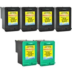 InkGrabber.com 6 PACK COMBO - Remanufactured HP 95/98 Cartridges (4 Black #98 + 2 Color #95) - replaces the HP C8766WN / C9364WN (HP OfficeJet 6310, HP OfficeJet 6310V, HP OfficeJet 6310XI, HP OfficeJet H470, HP OfficeJet H470B, HP Photosmart 2570, HP Photosmart 2575, HP Photosmart 2575V, HP Photosmart 2575XI, HP Photosmart 8050, HP Photosmart C4140, HP Photosmart C4150, HP Photosmart C4180, HP Photosmart D5060, HP Photosmart D5065, HP Photosmart D5069, HP Photosmart D5145, HP Photosmart…