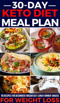 This keto diet for beginners meal plan gives you 30 days of easy keto recipes for breakfast, lunch, dinner, & snacks! Complete with a free printable food list & tips for meal planning on a budget this is a fabulous keto diet for Ketogenic Diet Meal Plan, Ketogenic Diet For Beginners, Diet Meal Plans, Ketogenic Recipes, Diet Recipes, Crockpot Recipes, Diet Menu, Beginners Diet, Meal Prep