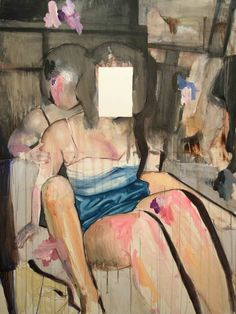 Expressionist painting by Lou Ros