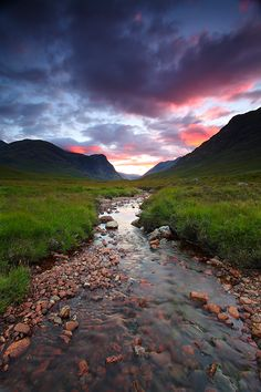 Scotland- the stream near the first cottage Brenna was in- fresh water for Quade