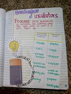 Teaching Science With Lynda: Teaching About Electricity and Circuits With Interactive Notebook Ideas