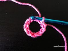 Let's make a bigger anchor with crochet :) – Natsulog Crochet Anchor, Crochet Hooks, Half Double Crochet, Single Crochet, Crochet Diagram, Crochet Patterns, Anchor Pattern, Writing Numbers, Magic Ring