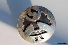 Vintage Southwestern Tribal 925 Sterling Silver Kachina Eagle Dancer Tie Tack Pin