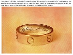 engraved message inside the ring