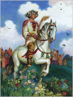 Jarilo was the god of war and protector of the weak and helpless. In Slavic religion Jarilo appears under many different names as Gerovit, Jarevid, Rudjevid.