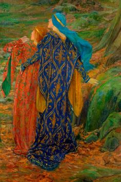 Edwin Austin Abbey - oh, the colors!