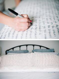 DIY Sharpie Scripted Pillows