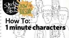 Cartoon Drawing Tips Draw Tip Tuesday: 1 minute characters! Eye Drawing Tutorials, Drawing Tips, Drawing Techniques, Art Tutorials, Drawing Ideas, Scream Parody, Face Tips, Cartoon Drawings, Face Drawings