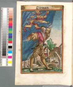 Colour Plate: German State Banners:  Thuringia