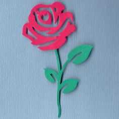 "4"" Long-Stem Rose Die Cut - Bright Red - Fixed Price Listing w/GIN Bonus!"