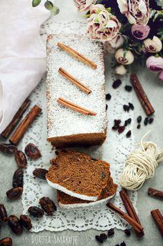 Ciasto cynamonowe z daktylami Pyszne Cinnamon Cake, Cheese, Sweet, Pastries, Dates, Food, Candy, Cinnamon Pie, Tarts