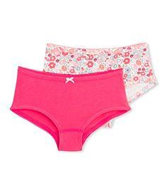 Petit Bateau Girls Three Pack Panties Solid Pink//Aqua Style 15244-98 Sizes 2-12