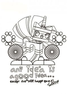 10 Picture of The LEGO Movie Coloring Pages for Kids