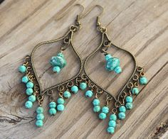 Love turquoise    http://www.etsy.com/listing/82443455/handmade-chandelier-earrings-with