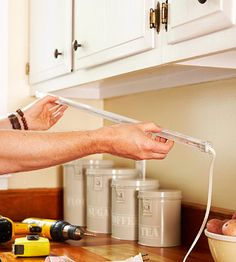 How to install under cabinet lighting in your kitchen pinterest a bright approach to kitchen lighting mozeypictures Choice Image