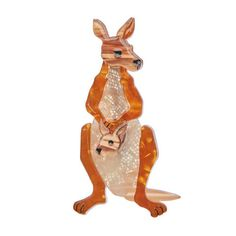 Erstwilder Roo Ride Along Brooch - Gwynnie's Emporium Ride Along, Quirky Fashion, Rose Boutique, Quirky Gifts, Animal Jewelry, Resin Jewelry, Jewellery, Mammals, Scooby Doo