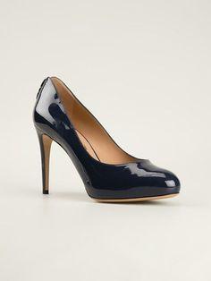 8c58451b3182c SALVATORE FERRAGAMO Blue Patent Leather Platform Pumps. Synge Lydia · Salvatore  Ferragamo Shoes